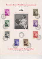 Feuillet Souvenir 1937 Reine Astrid Et Le Prince Baudouin COB 447 / 454 - Panes