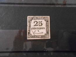 FRANCE YT TX 5A TYPOGRAPHIE 25c. Noir Papier épais - Taxes