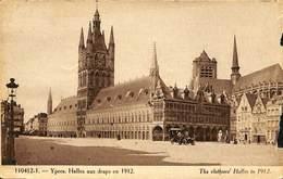 CPA - Belgique - Ieper - Ypres - Halles Aux Draps - Ieper