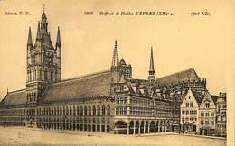 CPA - Belgique - Ieper - Ypres - Beffroi Et Halles - Ieper