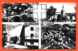 """CPSM PF 74 Souvenir D'allonzier La Caille """" Carte Multivues """" - France"""