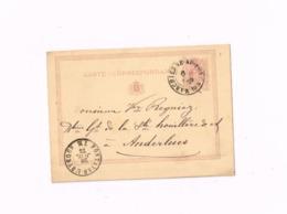 Entier Postal à 5 Centimes.Expédié De Marchienne-au-Pont à Anderlues. - Postwaardestukken