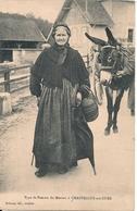 Cpa 89 Chastellux Sur Cure Type De Femme ( Avec âne ) - Frankrijk