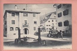 OUDE POSTKAART ZWITSERLAND - SCHWEIZ - SUISSE -    SAMADEN - TRANSPORT 1900'S - GR Graubünden