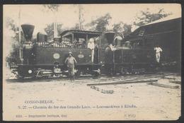 Carte Postale - N°27 Chemin De Fer Des Grands Lacs : Locomotives à Kindu (Edit. Delvaux, Huy) / Voyagée. - Belgisch-Kongo - Sonstige