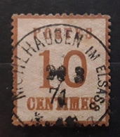 ALSACE LORRAINE 1870, Yvert No 5, 10 C Bistre  Brun  Obl Cachet  MULHAUSEN Im Elsass ,BTB - Alsace-Lorraine