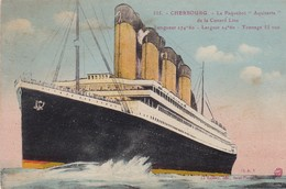 Paquebot : AQUITANIA - De La Cunard Line - Cherbourg - - Dampfer