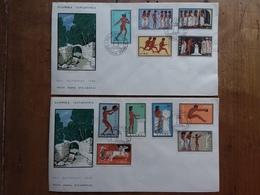 GRECIA - Serie Olimpica Roma 1960 Su 2 F.D.C. + Spese Postali - FDC