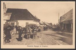 Carte Postale Militaria - Deutsche Bagage In Grajewo (Pologne), Der Train Zieht In Die Stadt Ein. / Not Used. - Weltkrieg 1939-45