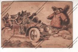 CPA Publicitaire : Potages Maggi - Chacun Son Tour (ours Au Volant D'un Véhicule) - Publicidad