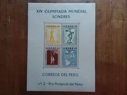 PERÙ - Olimpiadi Melbourne 1956 - BF 2 Nuovo ** + Spese Postali - Peru