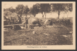 Carte Postale Militaria - Flüchtlingschütten Bei Lötzen (Pologne), Russen / Not Used. - Weltkrieg 1939-45