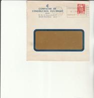 H 4 - Enveloppe Avec Timbre Gandon  Et Flamme Ecoles De L'armée De L'air PARIS - Maschinenstempel (Werbestempel)