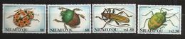 Tonga Niuafo'ou 1994 N° 202 / 5 ** Insectes, Coléoptères, Scarabée, Coccinelle, Cerambycidae, Capricorne, Punaise - Tonga (1970-...)