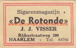 Sigarenmagazijn De Rotonde J.J. Visser Haarlem - Boites D'allumettes - Etiquettes