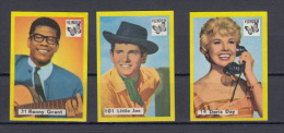 Lot 3: Ronny Grant, Little Joe, Doris Day - Boites D'allumettes - Etiquettes