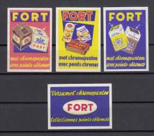 Lot 4 X Fort Chromo - Boites D'allumettes - Etiquettes