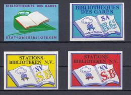 Lot 4 X Stationsbibliotheken - Boites D'allumettes - Etiquettes