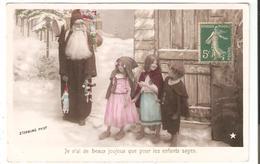 CPA Fantaisie Photo STEBBING - Père Noël - Enfants - Jouets - Poupées - Santa Claus