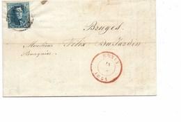 SH 0229. N° 4 (margé - 1 Marge Au Filet) De MENIN - P 82 - à Bruges - 15 JUIN 1851. Jolie Pièce. - 1849-1850 Medallones (3/5)
