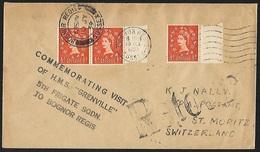 1958 - UK - Cover + SG 570 [Elizabeth II] + BOGNOR REGIS & MORITZ - Lettres & Documents