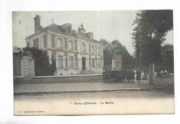 91 - Soisy-s/Etioles - La Mairie. Carte Animée Et Colorée - Francia