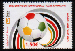 Montenegro 2010 FIFA World Championship Football, Soccer, South Africa MNH - 2010 – South Africa