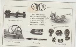 CPA   TRACTEUR  PUB SOMUA - Tracteurs