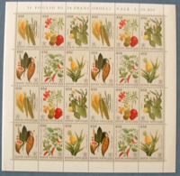 Vaticano 1992 Flora Foglio Da 4 Blocchi Sass.936/41 **/MNH VF - Blocs & Feuillets