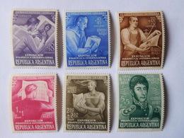 6 Timbres Neufs Argentine 1950 - Argentine