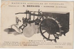 CPA   TRACTEUR  N BERNARD MARMANDE - Tracteurs