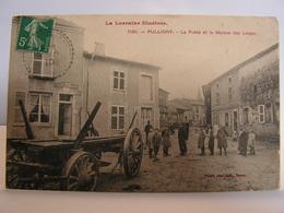 CPA 54 MEURTHE ET MOSELLE PULLIGNY LA POSTE ET LA MAISON DES LOUPS ANIMEE 348 - Luneville
