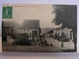 CPA 54 MEURTHE ET MOSELLE PETITMONT PLACE DU HOUCHOT SCIAGE DU BOIS ANIMEE 349 - Luneville