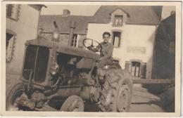 CPA   TRACTEUR  RENAULT CARTE PHOTO - Tractores
