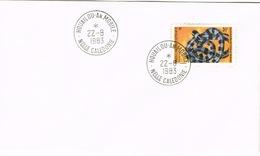 Nouvelle Caledonie New Caledonia Cachet A Date Houailou Annexe Mobile 1983 Us Courant Rare - Nouvelle-Calédonie