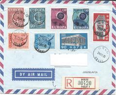 Norway Oslo Solli R - Lettre/Letter Via Macedonia Yugoslavia 1970.nice Mix Europa Stamps 1965/66/67 And 1969 - Noorwegen