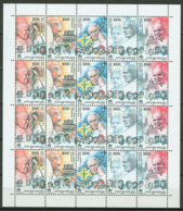 Vaticano 2000 Viaggi Minifoglio Da 4 Sass.1212/16 **/MNH VF - Blocs & Feuillets