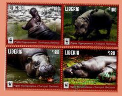 Hippopotames 2017 Libéria Stamp - Sonstige