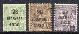 Y2177 - MONACO 1921 , Serie N. 48/50 Linguellati  * . - Monaco