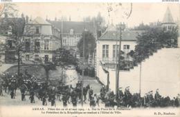 CPA 62 Pas De Calais Arras Fêtes Du 22 Et 23 Mai 1904 Place Préfecture Président Republique Hotel De Ville - Arras