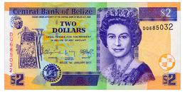 BELIZE 2 DOLLARS 2017 Pick 66 Unc - Belize