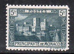 Y2181 - MONACO 1922 , 5 Fr Verde N. 63  *  Linguellato - Monaco