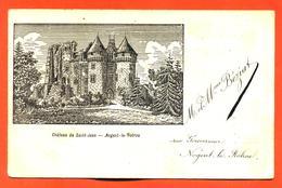 """CPA 28 Nogent Le Rotrou """" Chateau De Saint Jean """" Carte Style Gravure Précurseur 1900 - Nogent Le Rotrou"""