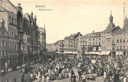 Germany Bonn Wochenmarkt Market Place Postcard - Deutschland