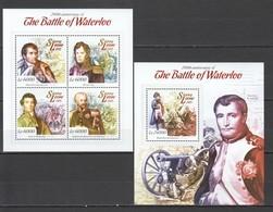 ST517 2015 SIERRA LEONE HISTORY 200TH ANNIVERSARY OF THE BATTLE OF WATERLOO 1KB+1BL MNH - Franz. Revolution