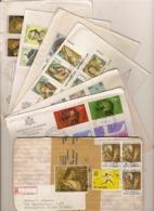 (St.Post.).S.Marino.Lotto Di 7 Raccomandate,una Raccomandata Pacco (2 Scan) (64-19) - San Marino