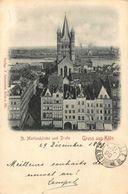 Germany St Martinskirche Und Deutz Gruss Aus Koln Church Postcard - Germany