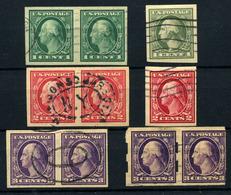 Estados Unidos Nº 199b/201bB. Año 1916/19 - Used Stamps