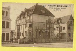 * De Panne - La Panne (Kust - Littoral) * (Nels) Pension René Carlos, Boulevard Nieuport 84 - 86, Hotel, TOP - De Panne