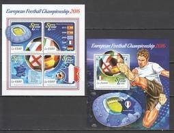 ST528 2015 SIERRA LEONE SPORTS FOOTBALL EUROPEAN CHAMPIONSHIP 2016 1KB+1BL MNH - UEFA European Championship